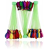 Theme My Party Fill & Automatic 222 Tie Multi Colored Magic Water Balloons (222 Balloons_Multi)