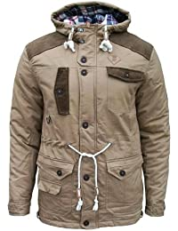 Soul Star Broughton Men's Casual Winter Padded Fashion Coat Jacket tobacco