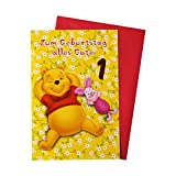 Disney Winnie Pooh Glückwunschkarte 1. Geburtstag