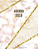 Agenda 2019: Élégant et Pratique | Mosaïque en Marbre Beige et Rose Doré | Agenda Organiseur Pour Ton Quotidien | 52 Semaines | Janvier à Décembre 2019
