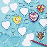 """Schlüsselanhänger """"Herz"""" für Kinder zum Gestalten, toll als Geschenk zum Muttertag und Valentinstag - (6 Stück)"""