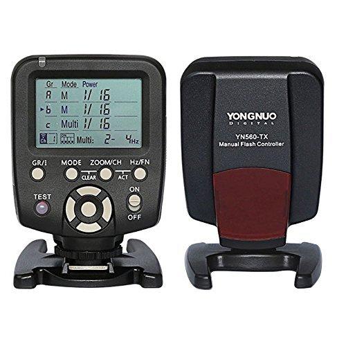 YONGNUO 560 TX Manual Flash Controller Transmitter LCD Wirelss Trigger Remote for YN-560 III YN560 IV, RF-602 RF-603 RF-603 II Nikon Camera YN560-TX  available at amazon for Rs.6749