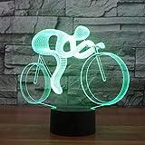 3D Fahrrad Lampe USB Power 7 Farben Amazing Optical Illusion 3D wachsen LED Lampe Formen Kinder Schlafzimmer Nacht Licht