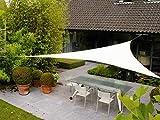 AXT SHADE Tenda a Vela Impermeabile Triangolare 3,6x3,6x3,6m, Parasole e Protezione Raggi UV, per Esterni, Cortile, Giardino, Colore Crema