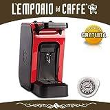 Offerta SPINEL CIAO Macchina da Caffè a cialde ESE 44mm filtro carta + kit assaggio Emporio del Caffè (Rossa)