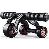 RXRENXIA Bauch Bewegung Ab3 Roller und Kniepolster-Abdominale Bauch Übung Fitness-Übungsleiter