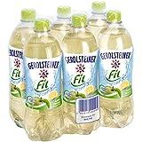 Gerolsteiner Fit Apfel Zitrone, kalorienarmes Erfrischungsgetränk, 6 x 0,75 l Flaschen