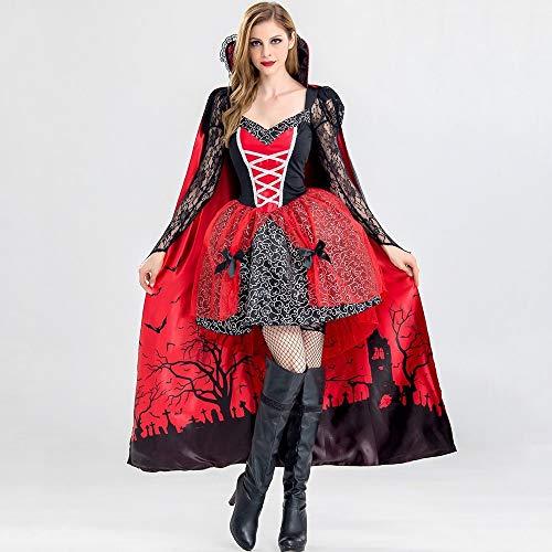DELI Halloween Kostüm Teufel Mini Kleider Heißer Frauen Print Bowknot Mesh Spitze Sexy Königin Partei Mädchen Goth Kleid (Teufel Frauen Kostüme)