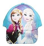 Mütze Mädchen Disney Prinzessin Königin der Schnee elsa Anna T52-54 einstellbar - Blau, 52cm