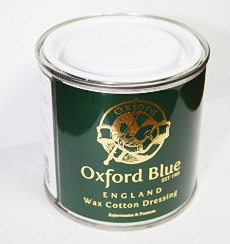 Colore Blu Oxford cera per Rewaxing Dressing In una scatola di latta per ravvivare le Cera per abiti, giacche