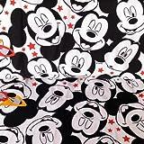 Jersey-Stoff – Micky Maus verpackt HEM74 – Jersey Stoff – 50 cm x 150 cm – 95% Premium Baumwolle 5% Elasthan Stretch Jersey Stoff