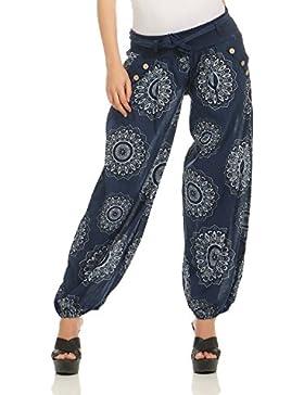 ZARMEXX signore harem pants bloomers dei pantaloni harem di yoga pantaloni harem estivo con tessuto cintura Mandala...