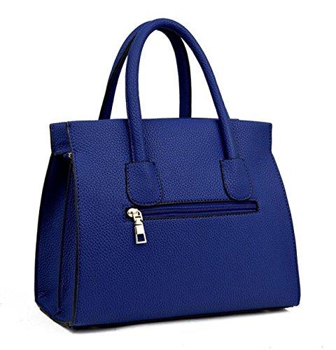 Damen Mode Lychee Muster Handtasche Schulter Messenger Tasche Großes Paket Einfach Wild Red