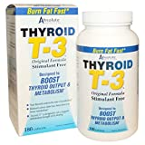 THYROID T-3 by ABSOLUTE NUTRITION 180 capsules. Supports Thryoid, Burns Fat, Increases Metabolism, Boosts Output, Stim-free, Guggul, Guggulsterones from Absolute Nutrition