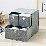 KLHNJ Storage Box Foldable Thick Drawer Cabinet Underwear Bra Scarf Socks Bra Storage Box(Gray)