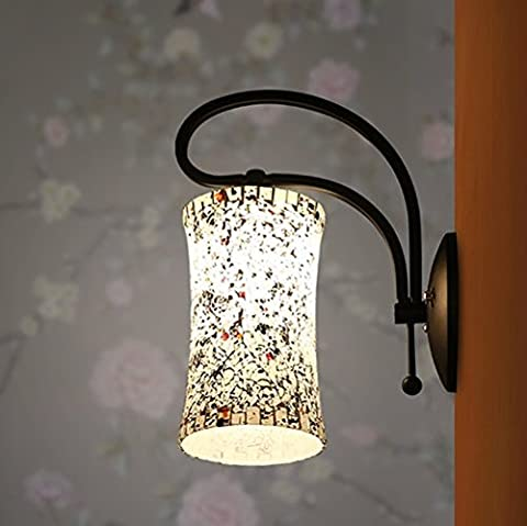 Jinxu Handmade Wall Lamp Iron Glazed Glass Light Home Cafe Hallway Decor,Yes