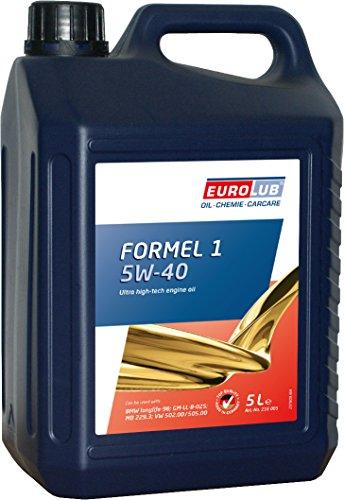 EUROLUB FORMEL 1 SAE 5W-40 Motoröl, 5 Liter