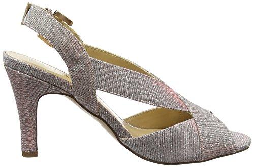 Lotus endive, Escarpins Bride Arriere Femme, Rose Pink (Pink Textile)