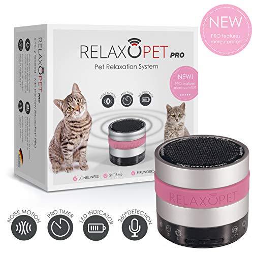 RelaxoPet PRO Tierentspannungs-Trainer | Version für Katzen | Beruhigung durch Klangwellen | Ideal bei Gewitter, Alleinsein oder auf Reisen | Hörbar und unhörbar