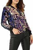 Missi Damen Collegejacke Jacke violett multi Gr. 40, multi