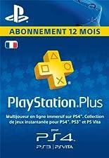 PlayStation Plus: abonnement de 12mois [Code Jeu PSN PS4 - Compte français]