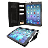 "iPad Air and New iPad 2018 9.7"" Case, Snugg Executive Black Leather Smart"