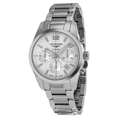 Longines Conquest Classic / orologio uomo / quadrante argento / cassa e bracciale acciaio