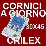 3 Cornici a Giorno 30x45 in Crilex Antinfortunistico, Ultra- Trasparente e Leggero - Cornice in Crilex 30x45 - Conf. da 3 Pz.