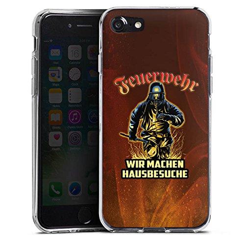 Apple iPhone SE Stand Up Hülle Case Cover mit Standfunktion Feuerwehrmann Spruch Feuerwehr Silikon Case transparent