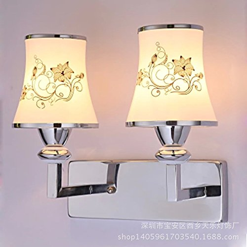 YJ&Lighting Haushaltswandlampe Antike Dachbodenwandlampe Heißeste Glückliche Grasschlafzimmerwandlampe, Glasspiegelscheinwerfer, Wohnzimmertreppengang