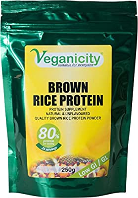 Veganicity Brown Rice Protein Powder : Natural and Unflavoured 80% Protein : 250g by Health + Plus Ltd