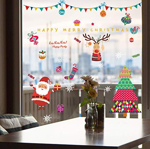 Weihnachten und Silvester schöne Weihnachtsmann Schaufenster Dekoration Wand Glas Fenster Aufkleber Tür Aufkleber