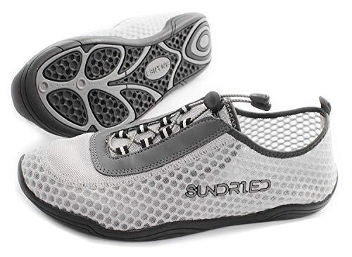 Zapatos de Gimnasia Barefoot Sundried de los Hombres por Running Saltarse Yoga Entrenadores atléticos Super Ligero (42 EU, Gris)