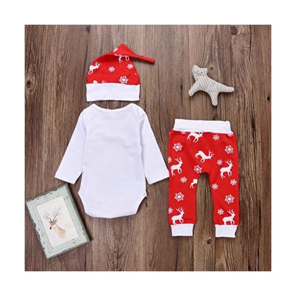 K-youth Ropa Bebe Nino Recien Nacido Otoño Invierno Infantil Body Bebe Niña Conjunto Bebé Mono Navidad Papá Noel Letra… 2