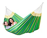 #2: DOUBLE SIZE HAMMOCK SWING FOR 2 PERSONS-WITH CARRY POUCH INCLUDED-PRINT MAY VARY.