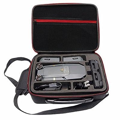 Rantow Waterproof Hardshell Case Box For DJI Mavic Pro Drone Black Hard Shoulder Bag Carry Case Suitcase