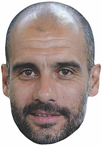 (empireposter Fußball - Guardiola, Pep - Maske aus hochwertigem Glanzkarton, mit Augenlöchern)