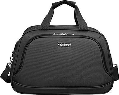 Lightweight Travel Holdall Cabin Flight Overnight Shoulder Grab Bag Black Hby0078 5 Year Warranty, Super Strong