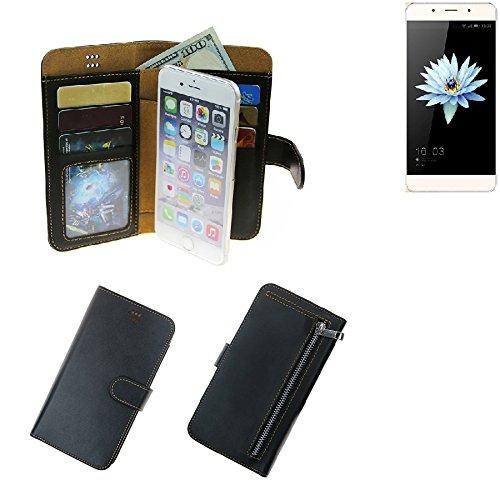 K-S-Trade® Für Hisense C1 Schutz Hülle Portemonnaie Case Phone Cover Slim Klapphülle Handytasche Schutzhülle Handyhülle Schwarz Aus Kunstleder (1 STK)