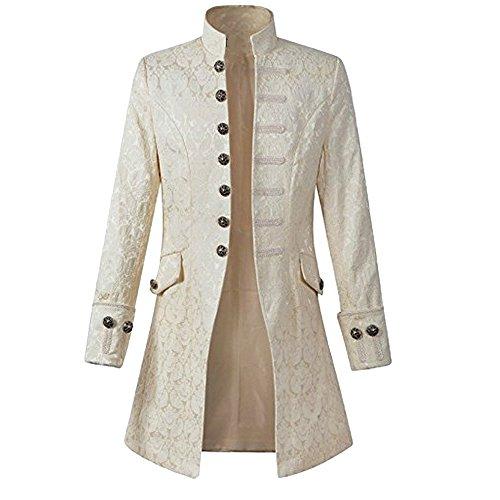 e Steampunk Gothic Jacke Frack Jacke Viktorianischen Langer Mantel Military Coat Cosplay Kostüm Smoking Jacke Uniform (Kostüme Smoking)