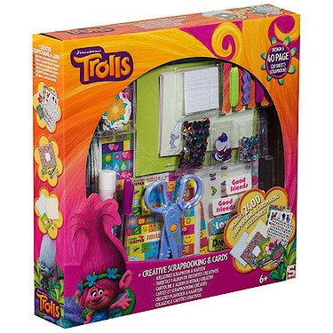 Sambro TRO-4450 Set Cartes et Album Trolls Couleur Orange/Violet