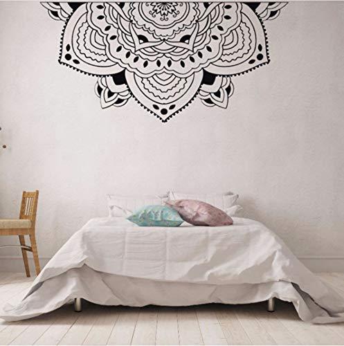 Aceycys home decor mezza mandala adesivo meditazione camera da letto in stile muro murale mezza mandala car window sticker testiera decalcomanie 42x87cm