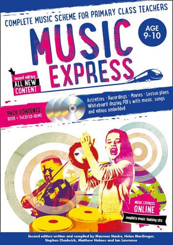 Music Express – Music Express: Age 9-10 (Book + 3CDs + DVD-ROM): Complete music scheme for primary class teachers por Helen MacGregor