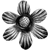 Gah-Alberts 422684 Lot de 10 rosaces d'ornement en acier brut Épaisseur:2,5 mm Largeur:90mm
