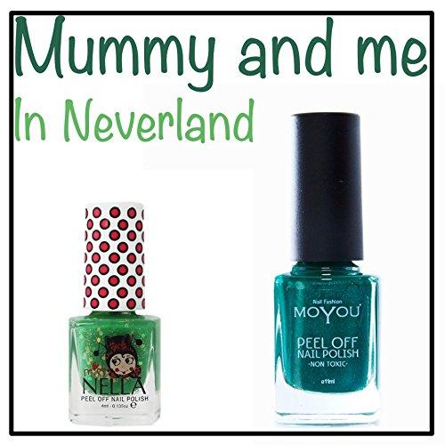 Mummy and Me in Neverland Abziehen, nicht giftig Nagellack, MoYou & Miss Nella Schaukel grün lack