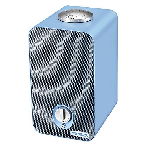 Luftreiniger TOPELEK Luftreiniger mit HEPA-Filter, Luftreiniger für Geruch,Allergien,Rauch,Staub,Schimmel Pollen; Perfekte für Zimmer,Küche,Büro,Hotel usw. Sauberer und Frischluftproduzent für Alle -