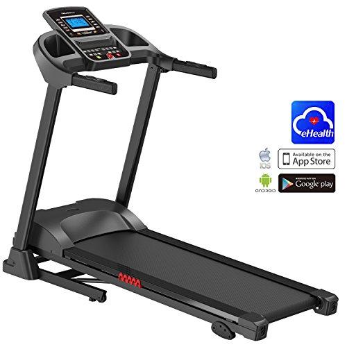 AsVIVA Laufband Cardio T16 Heimtrainer, Bluetooth, 15% Steigung, 16km/h Geschwindigkeit, energieeffizienter 3,5 PS goGreen (elektr. Steigung), Laufband Heimtrainer klappbar preisvergleich