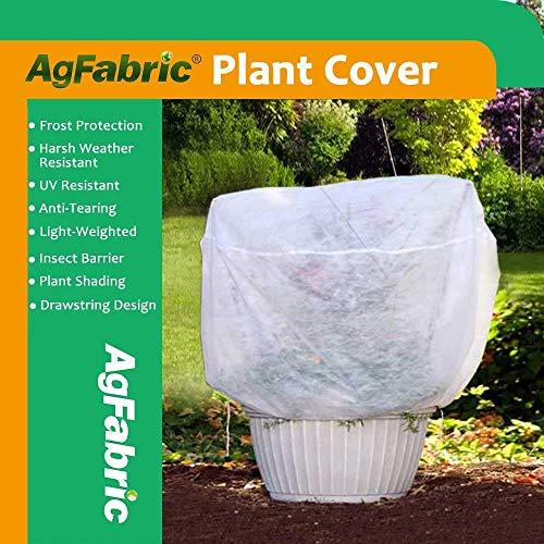 Agfabric Pflanzen-Abdeckung, warm, warm, frostsicher, 2 g, 183 cm H x 183 cm Durchmesser, runde Strauchjacke, 3D-Überzug für Saisonverlängerung und Frostschutz 2g Cover
