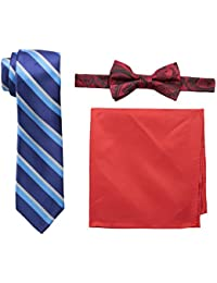 Nick Graham Men's Necktie, Bow Tie and Pocket Square Set
