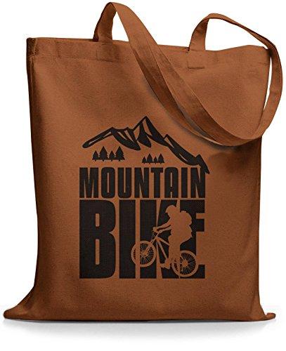 StyloBags Jutebeutel / Tasche Mountain Bike black Choco
